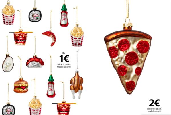 Pallina di natale pizza